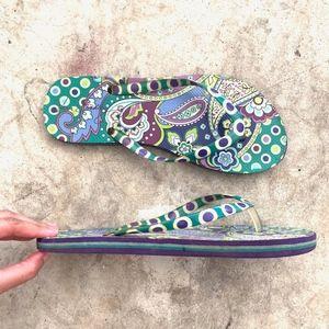 Vera Bradley Multicolor Paisley Thong Flip-Flops